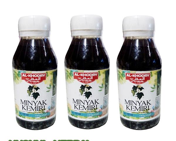 khasiat herbal minyak kemiri premium al khodry | toko herbal Gambar Minyak Kemiri Herbal